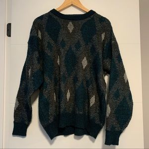 "Asher | Vintage Knit Long Sleeve ""Grandpa"" Sweater"